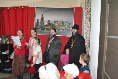 Поздравление с праздником Пасхи в пансионе д. Брехово