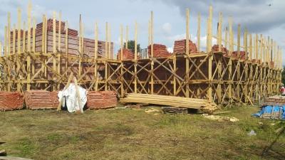 Здесь все фото строительства храма на 12.06.17