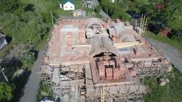 Видеоотчет о строительстве храма (июнь 2017)